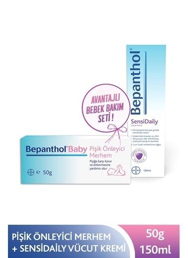 Bepanthol Baby Pişik Önleyici Merhem 50 Gr + Sensidaily Çok Kuru Ve Hassas Ciltler Için Günlük 150 Ml Renksiz